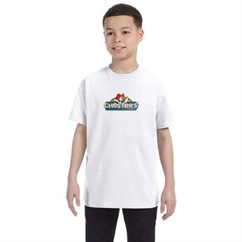 H54500 FULL COLOR IMPRINT AVAILABLE!! - HANES YOUTH 6.1 OZ. TAGLESS T-SHIRT