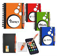 Mini Spotlight Notebook & Stylus/Pen with Sticky Notes