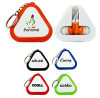 Triangle Ear Buds Keychain