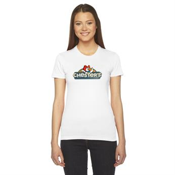 AA2102 FULL COLOR IMPRINT AVAILABLE!!! - AMERICAN APPAREL LADIES' FINE JERSEY USA MADE SHORT-SLEEVE T-SHIRT