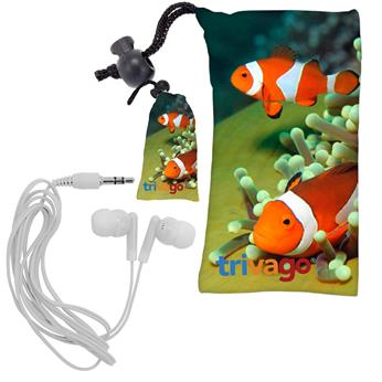 CPP-3303 - Full Color MicroFiber Ear Bud Pouch