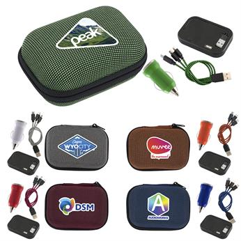 CPP-4083 - Textured Cable Car Power Bank Set
