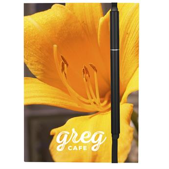 """CPP-4318 - 4"""" X 6"""" Perfect Paper Cover Notebook With Elastic Stylus Pen"""