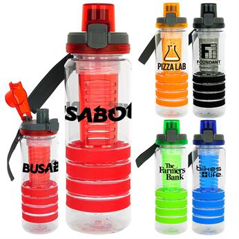 CPP-4521 - Locking Lid 28 oz. Sporty Ring Bottle with Infuser