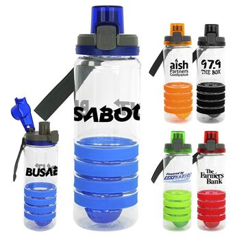 CPP-4542 - Locking Lid 28 oz. Sporty Ring Bottle with Floating Infuser