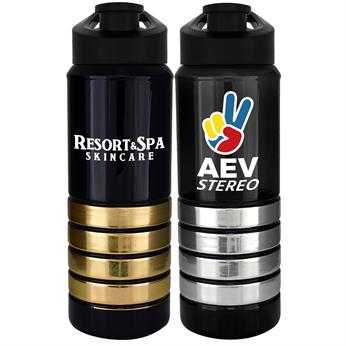 CPP-4600 - Easy Pour 28 oz. Metallic Ring Bottle
