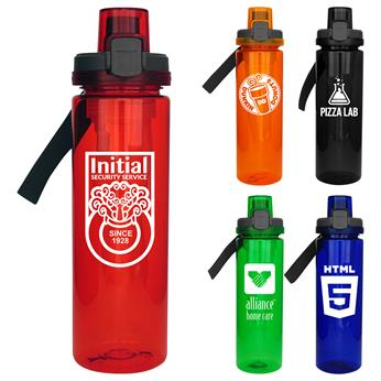 CPP-4682 - Locking Lid 24oz. Colorful Bottle with Chiller