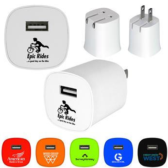 CPP-4706 - UL Folding Colorful Wall Charger