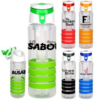 CPP-4723 - Trendy 28 oz. Sporty Ring Bottle with Chiller
