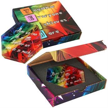 CPP-4804 - Hexagon Acrylic in Full Color Box