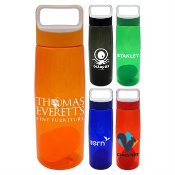 CPP-4900 - Boxy 25 oz. Colorful Contour Bottle with Floating Infuser