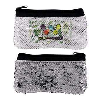 CPP-5039-LEAF - VIBRANT LEAF SEQUIN POUCH