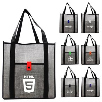 CPP-5195 - Gray Denim Grocery Tote