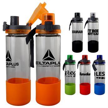 CPP-5243 - Locking 22 oz. Glass Grip Bottle