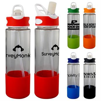 CPP-5253 - Two-Tone 22 oz. Glass Grip Bottle