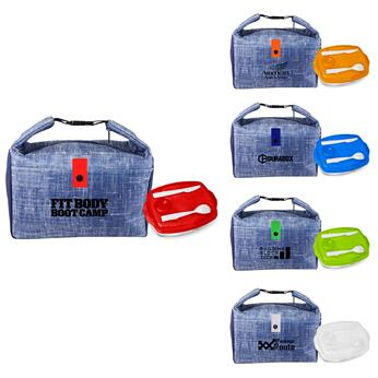 CPP-5254 - Blue Denim Lunch Tray Set