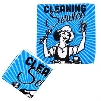 CPP-5568 - 12 x 12 Full Color Microfiber Cleaning Cloth
