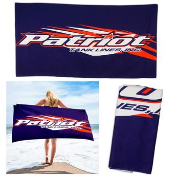 CPP-5583 - 30 x 60 Full Color Plush Cotton Beach Towel
