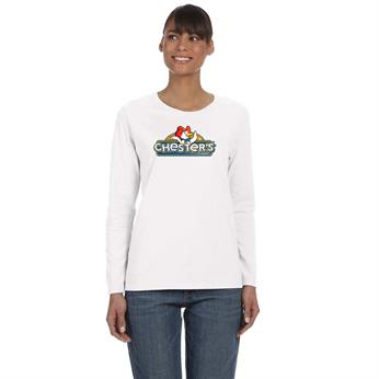 G540L FULL COLOR IMPRINT AVAILABLE!!! - GILDAN LADIES' 5.3 OZ LONG-SLEEVE T-SHIRT