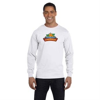 H5186 FULL COLOR IMPRINT AVAILABLE!!! - HANES 6.1 OZ. LONG-SLEEVE BEEFY-T