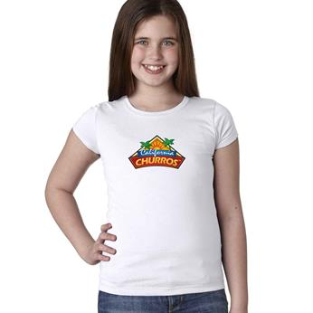 N3710 FULL COLOR IMPRINT AVAILABLE!!! - NEXT LEVEL YOUTH GIRLS' PRINCESS T-SHIRT