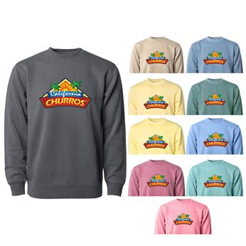 PRM3500 FULL COLOR IMPRINT AVAILABLE! - MIDWEIGHT PIGMENT DYED CREW NECK
