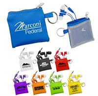 Ear Bud Pouch & Colorful Ear Buds