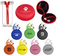 CPP-3332 - Colorful Premium Ear Bud Round Case