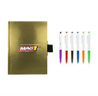 "CPP-4239 - 4"" x 6"" Perfect Metallic Cover Notebook With Pen"