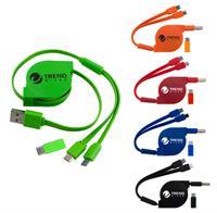 CPP-4272 - 2 Way Retractable Type C Cable