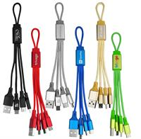 CPP-4622 - Metallic Loop 3-in-1 Cable with Type C USB