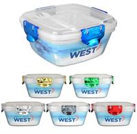 CPP-4707 - Full Color Metallic Clip Top Container