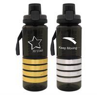 CPP-4794 - Locking 28 oz. Metallic Ring Bottle w/ Infuser