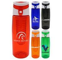 CPP-4904 - Trendy 25 oz. Colorful Contour Bottle with Infuser