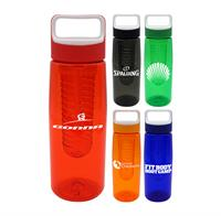 CPP-4909 - Boxy 25 oz. Colorful Contour Bottle with Infuser