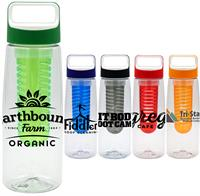 CPP-4974 - Boxy 25 oz. Clear Contour Bottle with Infuser