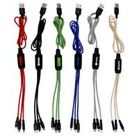 3' Metallic Logo Light Up Cable
