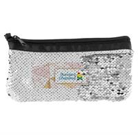 Vibrant Marble Sequin Pouch