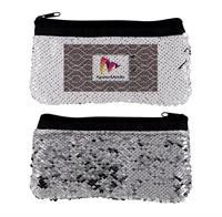 VIBRANT TWIST SEQUIN POUCH