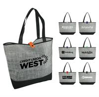 Gray Denim Tote Bag