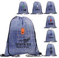 CPP-5209 - Blue Denim Drawstring Backpack