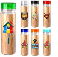 Clear View 18 oz. Full Color Bamboo Bottle