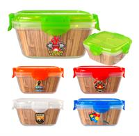 Full Color Bamboo Clip Top Container