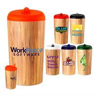 Full Color Bamboo Pop Up Bottle
