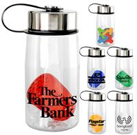 CPP-5325 - Metal Lanyard Lid 18 oz. Bottle with Floating Infuser