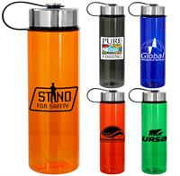 Metal Lanyard Lid Colorful 24oz Bottle
