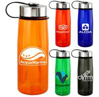 Metal Lanyard Lid 25 oz. Colorful Contour Bottle