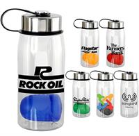 CPP-5360 - Metal Lanyard Lid 25 oz. Bottle with Floating Infuser