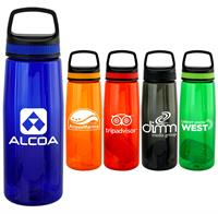 Handy Band-It 25oz Colorful Contour Bottle with Floating Infuser