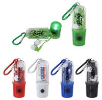 Carabiner Case Light with Ear Buds